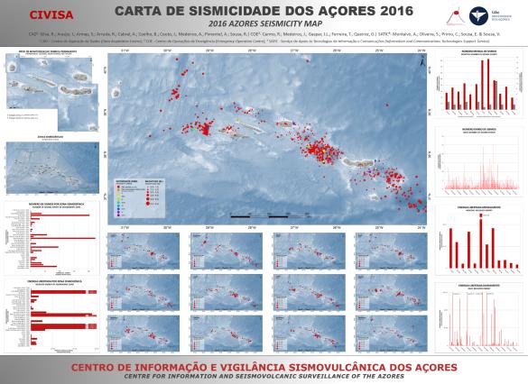 Mapa de sismicidade 2016